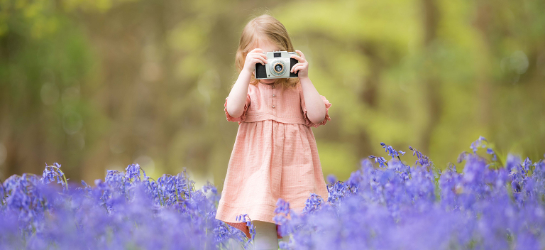 Children's Photography in Bluebells