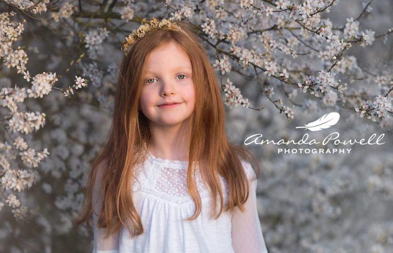 Amanda Powell Photography - Children's portrait in spring Blossom
