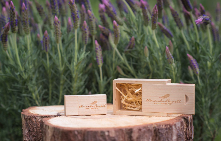 Wooden USB and Presentation Box for Amanda Powell Photography