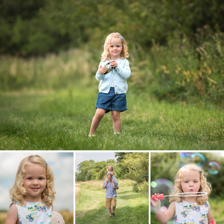 Family photography in the cornfields