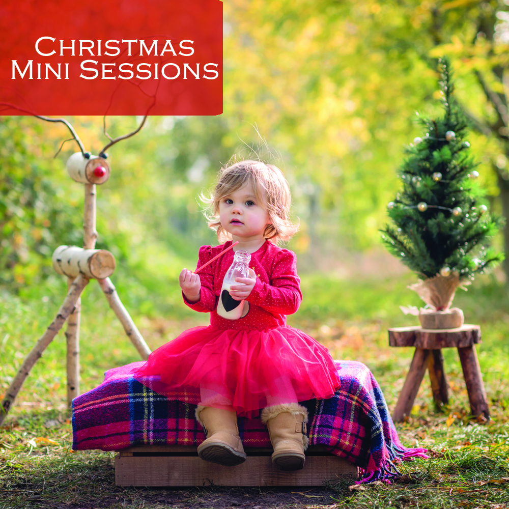 Little girls on a Christmas Photo Shoot