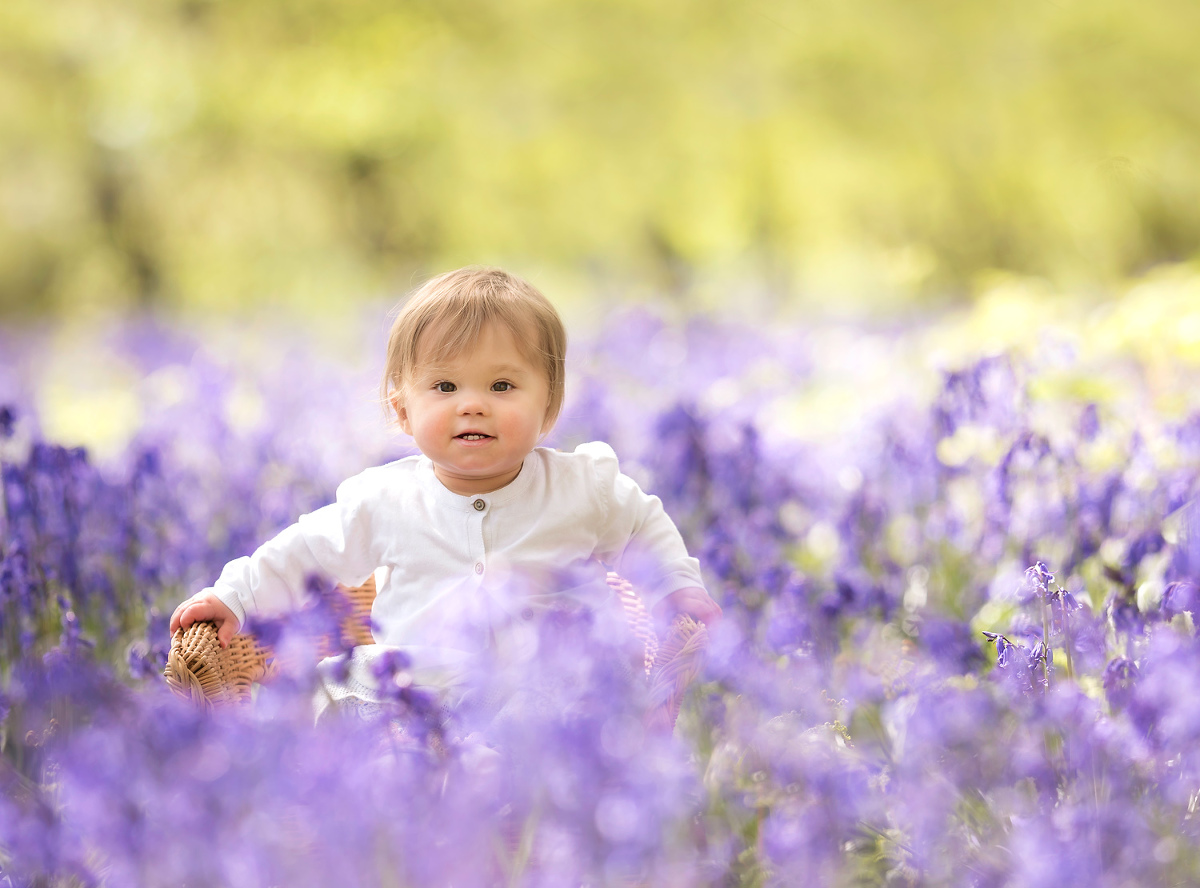 Baby in the bluebells