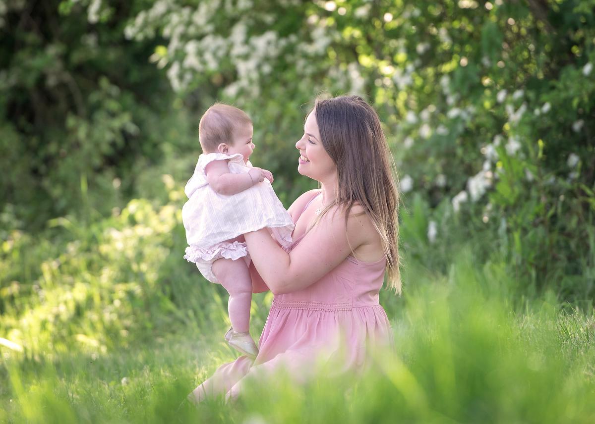 Baby girl with mum