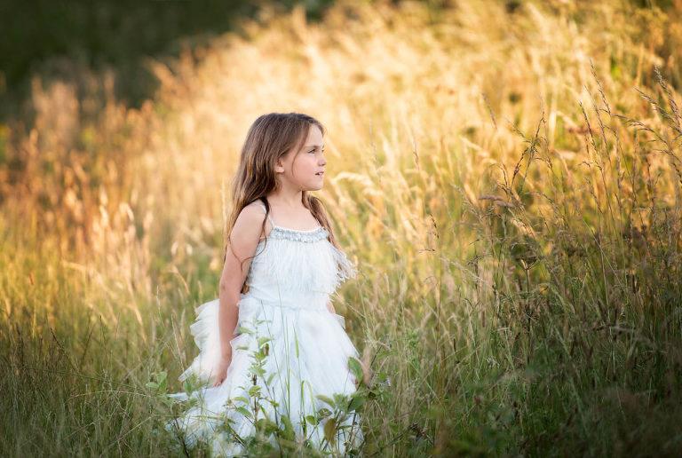 Girl enjoying a summer photo shoot