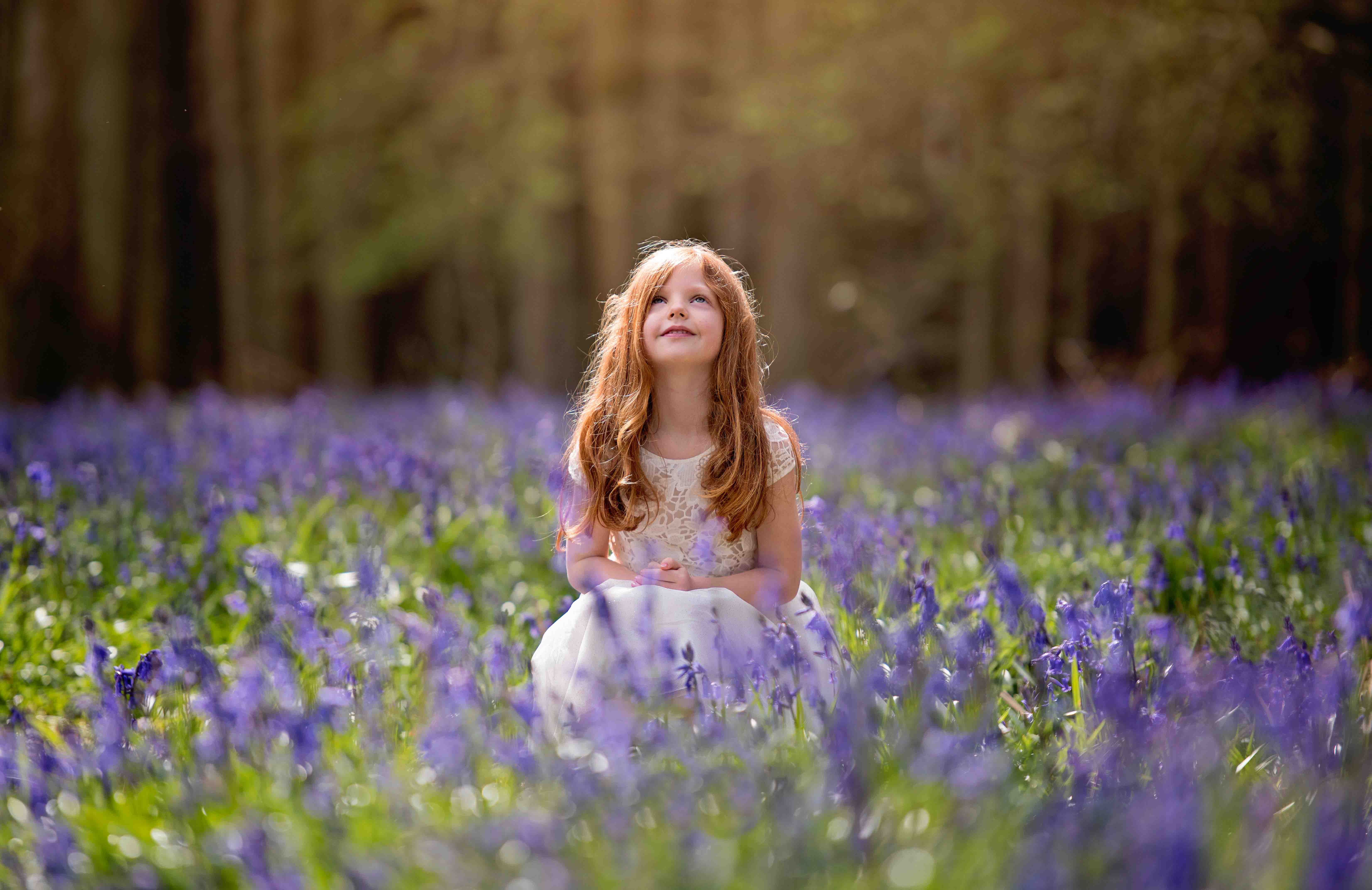 Girl in the Bluebells