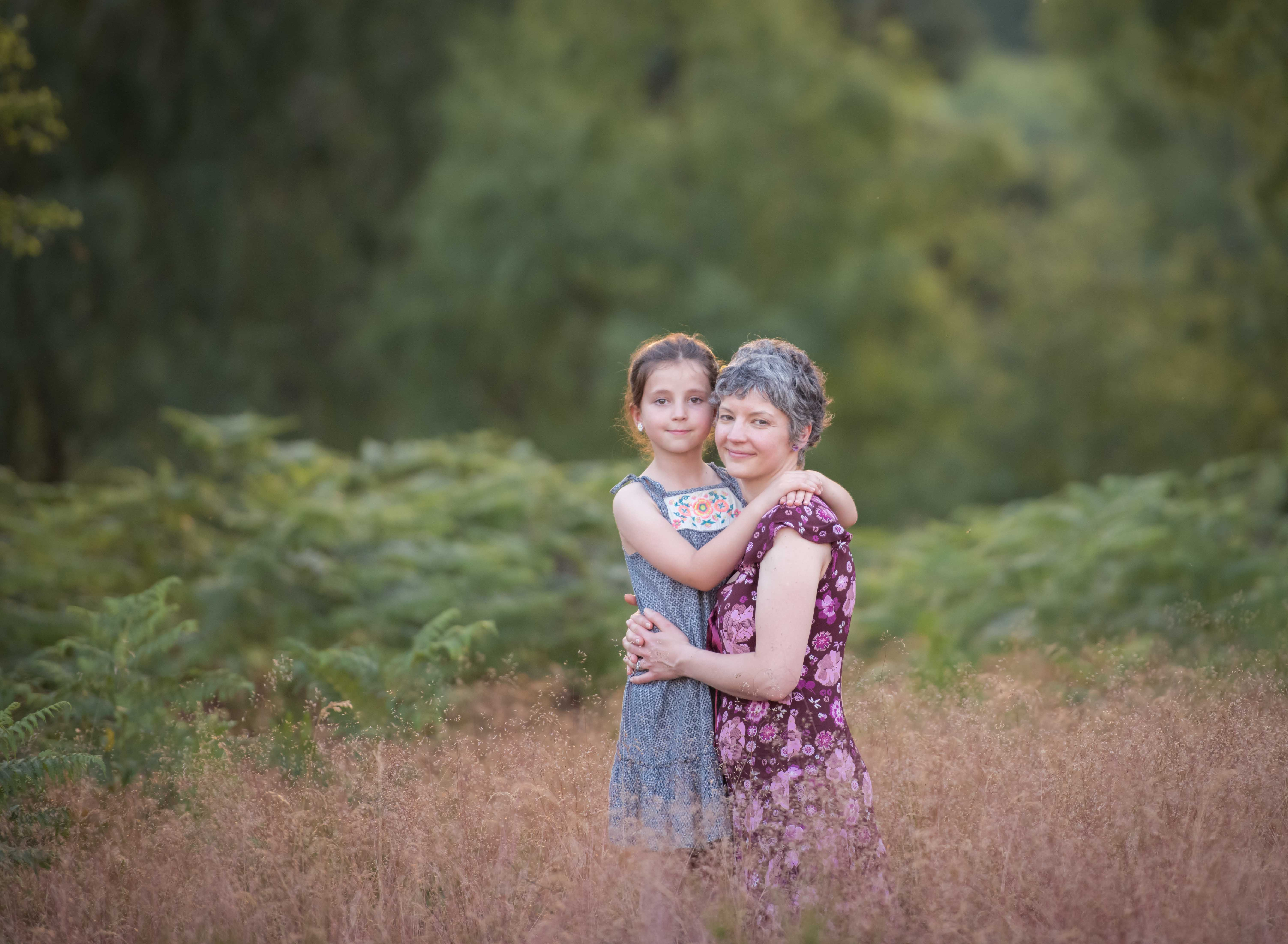 Family photo shoot with mother and daughter