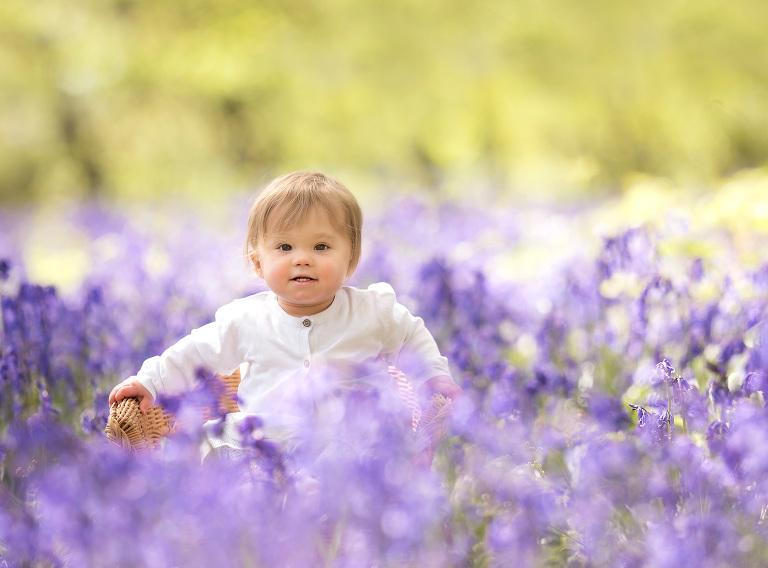 Baby enjoying spring