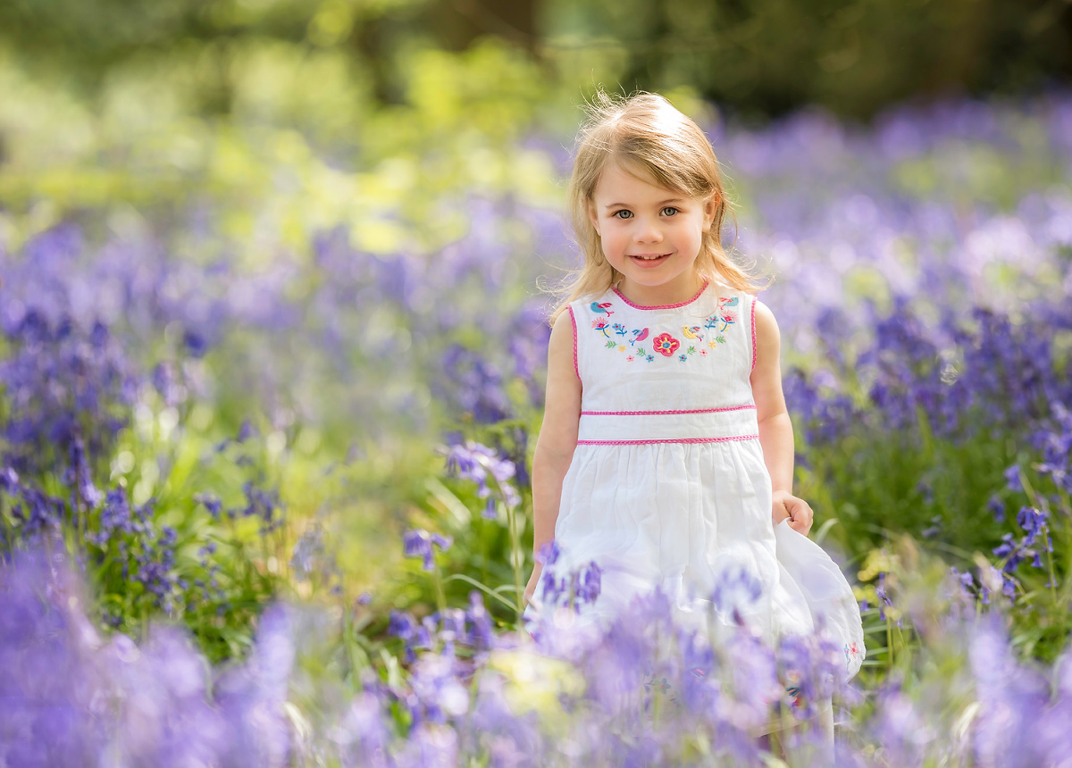 Girl enjoying a spring photo shoot